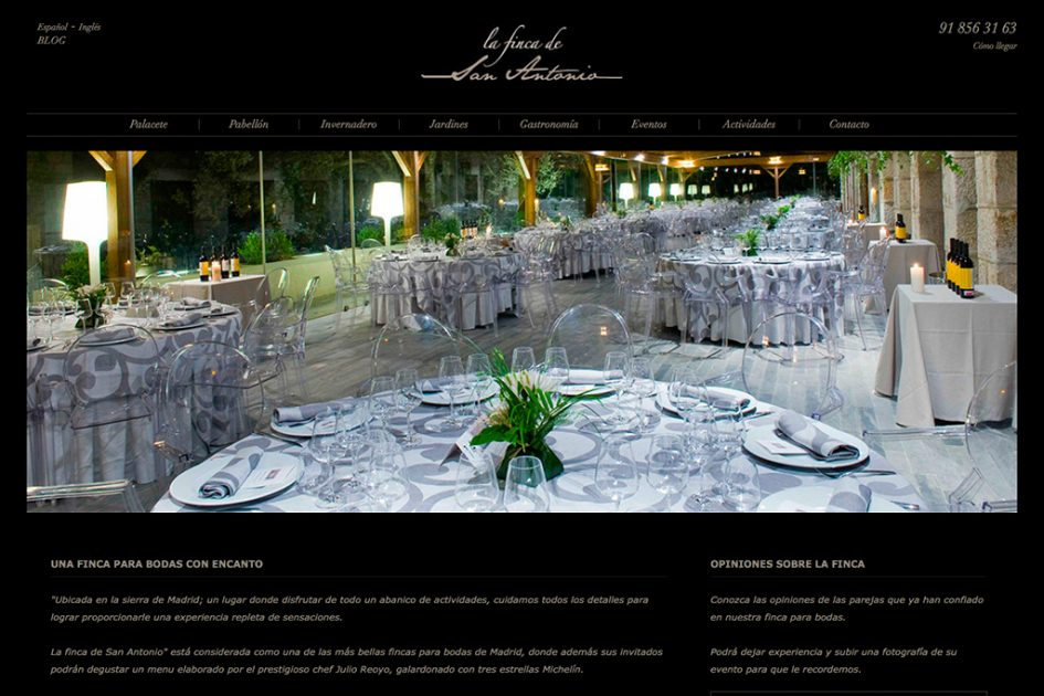 diseño web de la finca de San Antonio