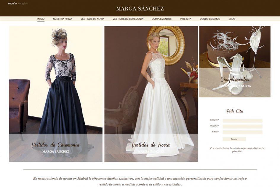 diseño web de la diseñadora Marga Sánchez
