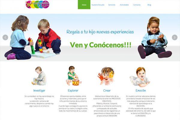 diseño web de la escuela infantil cangurito en Madrid