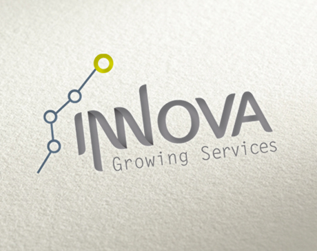 Diseño de logotipo de la empresa INNOVA Growing Services